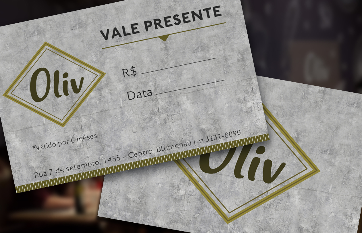 Presente com o tempero do Oliv!
