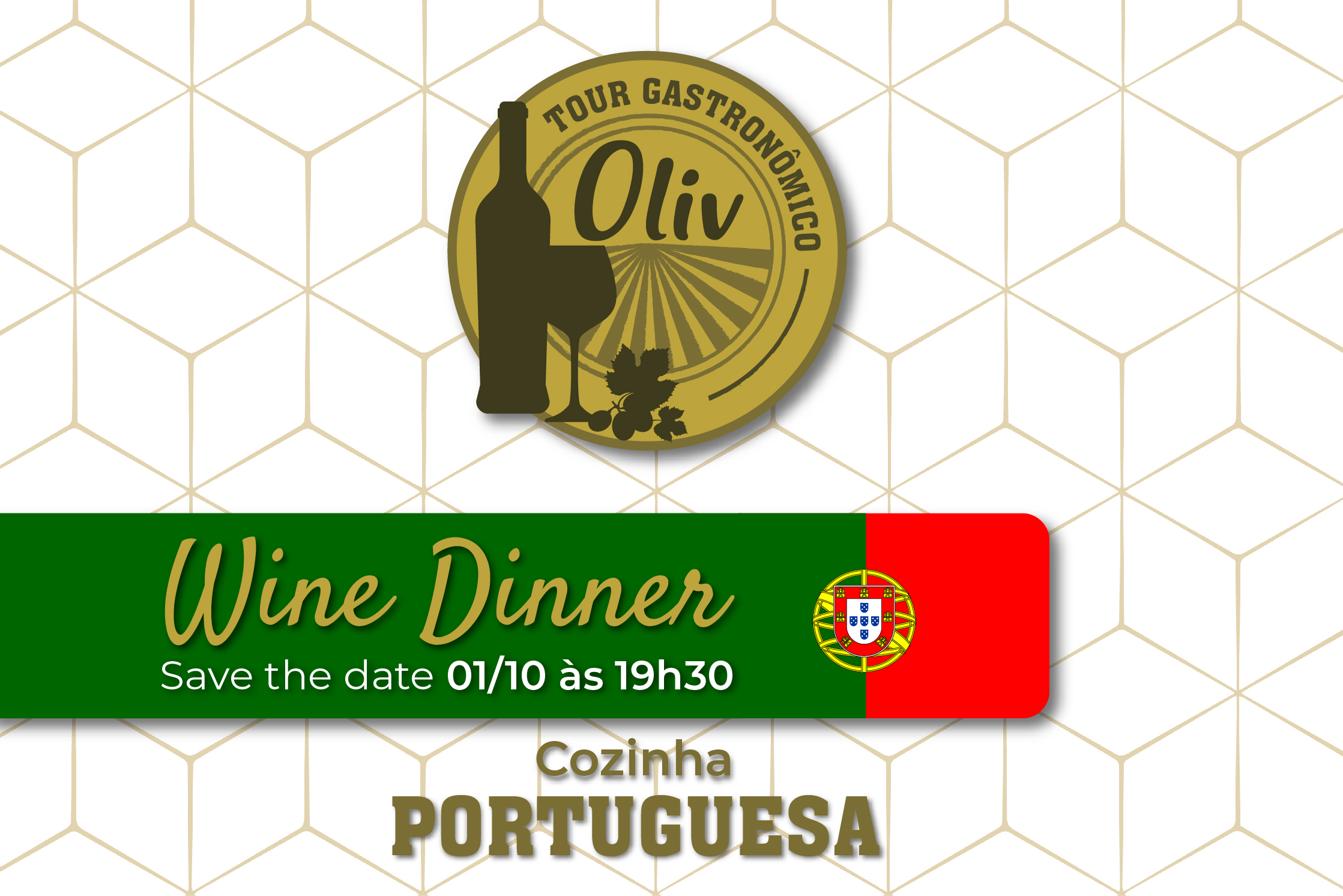 Wine Dinner - Tour Gastronômico Oliv  |  Portugal  |  01/10/2019